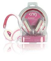 KNG Roze Wit over-ear koptelefoon