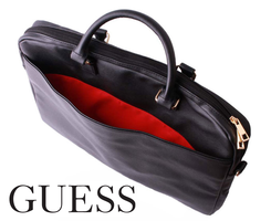 Guess Lederen Laptop Case tot 16 inch Zwart
