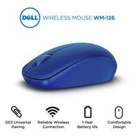 Dell WM126-BU draadloze muis Blauw