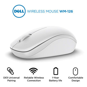Dell WM126-WH draadloze muis WIT