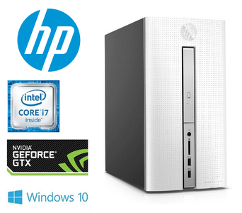 HP Pavilion 570-p050nd Desktop - Core i7-7700 - 8GB - SSD + HDD - NVIDIA GTX1050 - Open Box - 12maand garantie